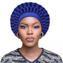 2021 тюрбан шляпа для женщин Африканский aso oke головной убор