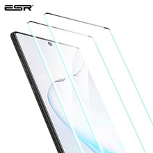 ESR 2PCS Screen Protector สำหรับ Samsung Galaxy หมายเหตุ 10 กระจกนิรภัยปกคลุมเต็มรูปแบบป้องกันฟิล์มสำหรับ Samsung Note 10 plus 5G