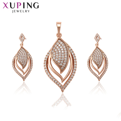 Xuping Fashion Trendy Sets Fantastic Charm Women Sets Rose Gold Color Plated Wedding Gifts High Quality Elegant S215.5-65592
