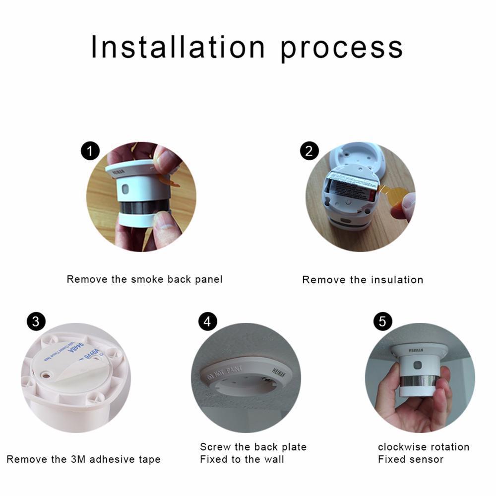 HEIMAN Zigbee Fire alarm Smoke detector 4pcs Smart Home system 2.4GHz High sensitivity Safety prevention Sensor Free Shipping - 5