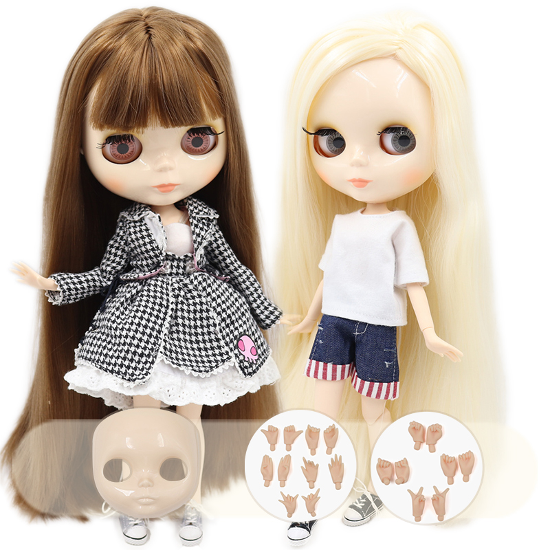 ICY DBS Blyth doll No.3 glossy face white skin joint body 1/6 BJD special price 1/6 BJD toy giftDolls   -