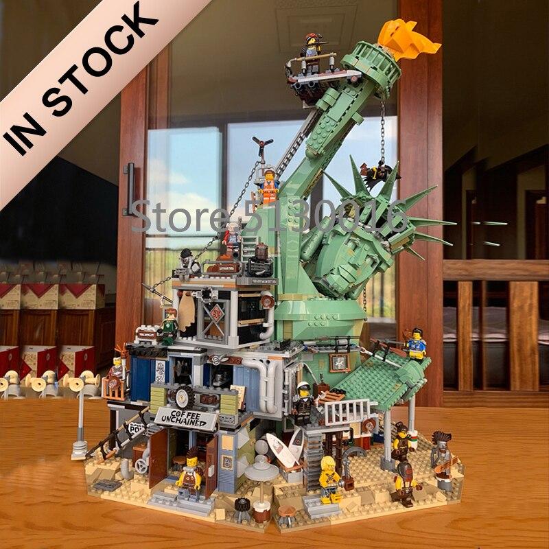 45014 bem-vindo ao apocalypseburg 3560 pces criador filme 2 modelo blocos de construção compatível com 70840 crianças brinquedos educação