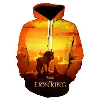 Newest Lion King 3D Printed Hooded Sweatshirts Men Women Fall Winter Streetwear Hoodies Lion King Men's Fashion Casual Pullover 1