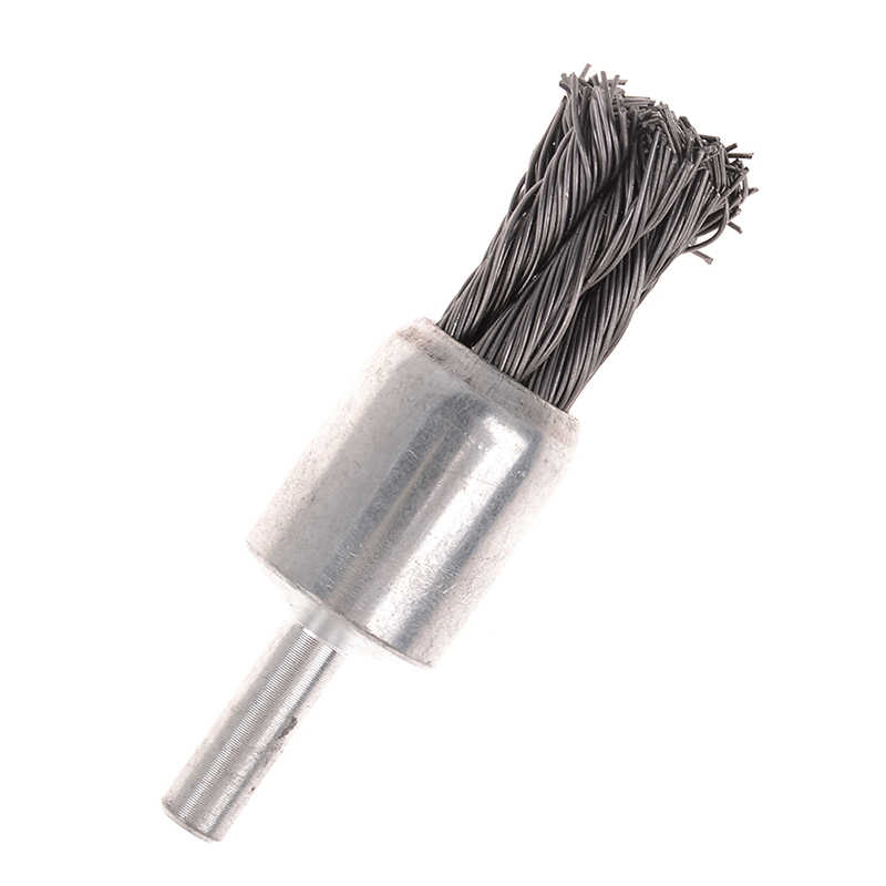 "20mm Wire Knot End Brush Stainless Steel with 1//4/""Shank For Die Grinder or Dr.FL"