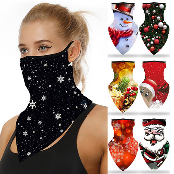 1PC Unisex Christmas mascarilla Print Seamless Ear Mask Sports Scarf Neck Tube Face Riding Mask mascarilla con diseño24