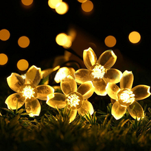 7m 50LED Blume Solar Lampe Power LED String Licht Fee Lichter String Solar Licht Girlanden Garten Weihnachten Decor Für outdoor