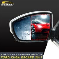 GELINSI Car Anti Fog Rearview Mirror Film Rainproof Clear Window Protective Waterproof Film For Ford KUGA Escape 2017 2018