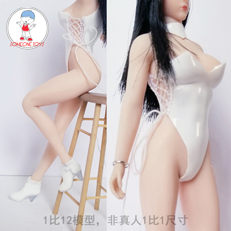 1/12 Scale Sexy Female Figure Clothes with High Heel Shoes Leather Bikini for 12 Inches TBLeague Body Action Figure image