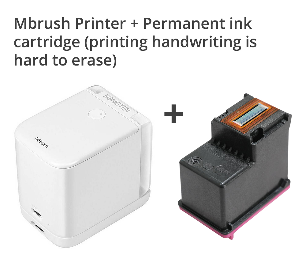 Mbrush Printer + Permanent ink