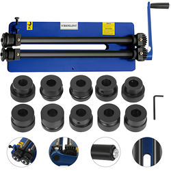 VEVOR NEW Bead Roller Former Swager Rotary Swaging Machine 460mm 18 1.2mm 6 Roll Sets