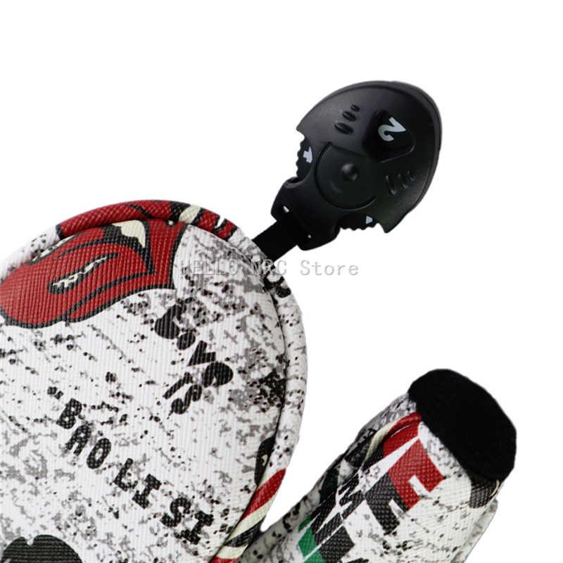 1 шт. Гольф клуб головные Гибридный Деревянный Череп с принтом из искусственной кожи Водонепроницаемый защиты