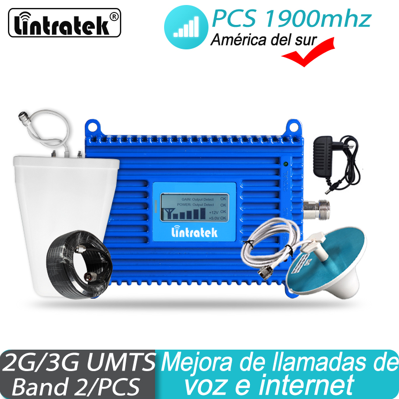 1900mhz Amplifier For Chile Mexico Colombia GSM Signal Booster 3G UMTS 70dB Gain  Cellphone Mobile Booster Receiver #32