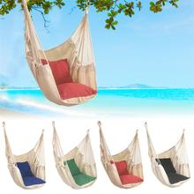 Garden Hanging Swing Chair Thick Canvas Rocking Patio Furniture Hammocks with 2 Pillow Hammock Children Camping Outdoor Cushion hammock outdoor hammocks camping garden furniture hammock