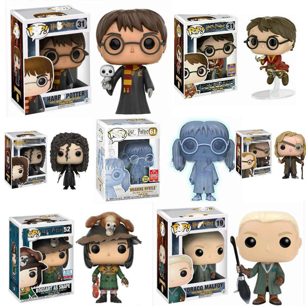 FUNKO POP Harri พอตเตอร์กับ hedwig Moaning Myrtle DRACO Malfoy Hermione Granger Action Toy Figures Collection ของเล่นของขวัญ
