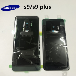 Image 1 - 100% Original SAMSUNG Galaxy S9 G960 S9+plus G965 Back Glass Battery Cover Rear Door Housing Case Back Glass Cover Parts