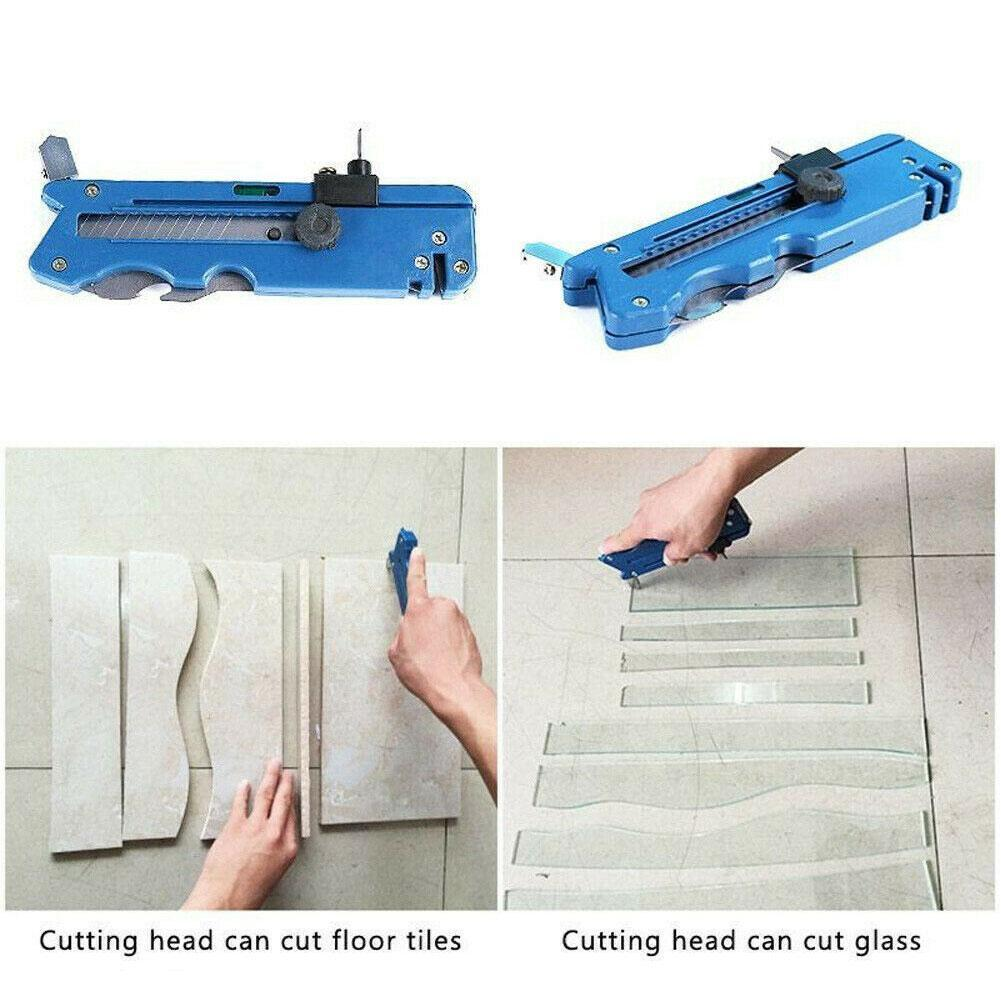 Multifunction Foldable Glass And Tile Cutter Professional Measure Craft Kit Tool