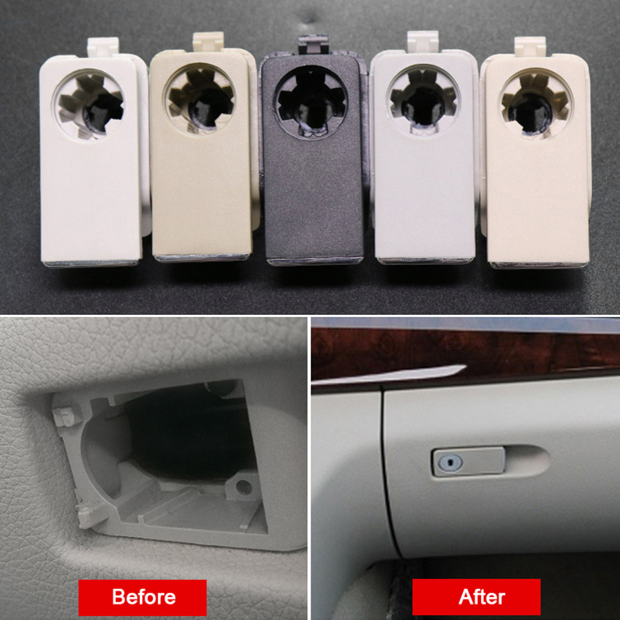 5 Colors Glove Compartment Box Lid Switch Grip Lock Hole Replacement For Mercedes Benz C E GLK Class W204 X204 W212 C200