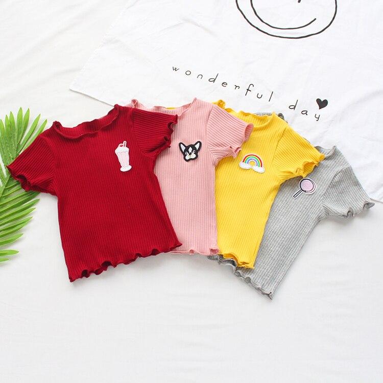 VIDMID Summer baby girls short sleeve T-shirt boys baby cotton T-shirt short sleeve toddles children's casual tops tees P2050 4