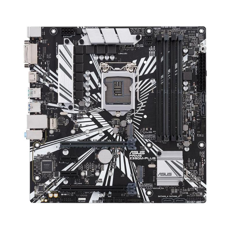 ASUS PRIME Z390M-PLUS Chipset Intel Z390 LGA <font><b>1151</b></font> <font><b>Socket</b></font> Desktop Motherboard Dual Channel DDR4 Micro ATX Mainboard for Computer image