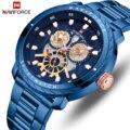 NAVIFORCE Assistir Top Marca de Luxo Mens de Quartzo Dos Homens Relógios do Relógio À Prova D' Água Data Esportes Masculino de Aço Relógio de Pulso Relogio masculino