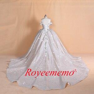 Image 4 - Luksusowy dubaj arabski off shoulder aplikacje koronkowa suknia ślubna 2020 prawdziwe zdjęcia suknia ślubna Vestido de noiva suknia ślubna