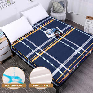 Pad Mattress-Cover Fitted-Sheet Water-Bed-Linens Elastic Waterproof Printing New MECEROCK