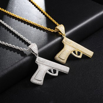 Collier Hip Hop Bling Pistolet Gangsta