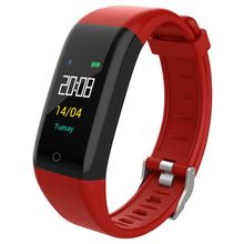 T10 Bluetooth Waterproof Intelligent Tracking Bracelet Sports Fitness Stepping Distance Heart Rate Monitoring Bracelet,Red