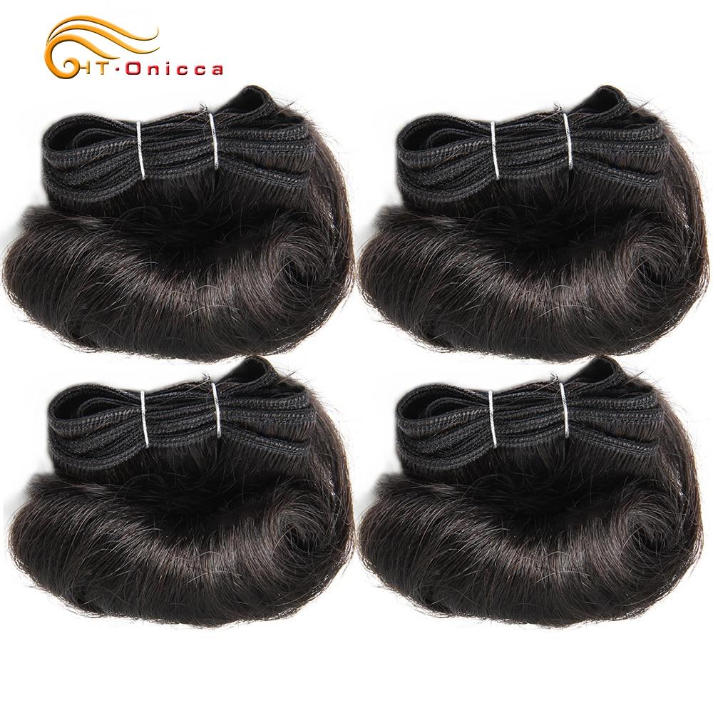 Бразильские вьющиеся пучки волос, 100% человеческие волосы, 4 пряди, афро 1B 30 бордовые пряди, наращивание волос 5 5 6 7 дюймов, волосы без поврежде...