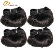 Extensão de cabelos encaracolados brasileiros, 4 pacotes de cabelo 100% humano, afro 1b 30 borgonha cabelo remy de 7 polegadas
