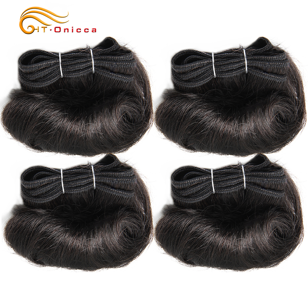 Brazilian Curly Hair Weave Bundles 100% Human Hair 4 Bundles Afro-b 1B 30 Bundles Hair Extension 5 5 6 7 Inch Htonicca Remy Hair