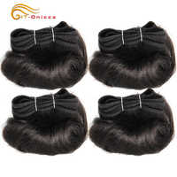 Brazilian Curly Hair Weave Bundles 100% Human Hair 4 Bundles Afro-b 1B 30 Bundles Hair Extension 5 5 6 7 Inch Htonicca Remy Hair