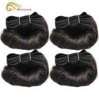 Extensiones de pelo ondulado brasileño rizado 100% pelo humano 4 mechones Afro-b 1B 30 extensión mechones de pelo 5 5 6 7 pulgadas Htonicca Remy pelo