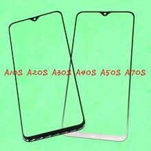 10 sztuk wymiana LCD na ekran dotykowy szklany zewnętrzny obiektyw do Samsung Galaxy A10S A20S A30S A40S A50S A70S
