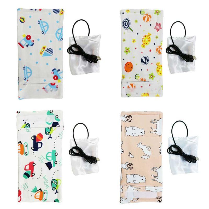 Usb-грелка для молока, изолированная сумка, переносная дорожная чашка, грелка, детская бутылочка для кормления, чехол для подогревателя, сумк...