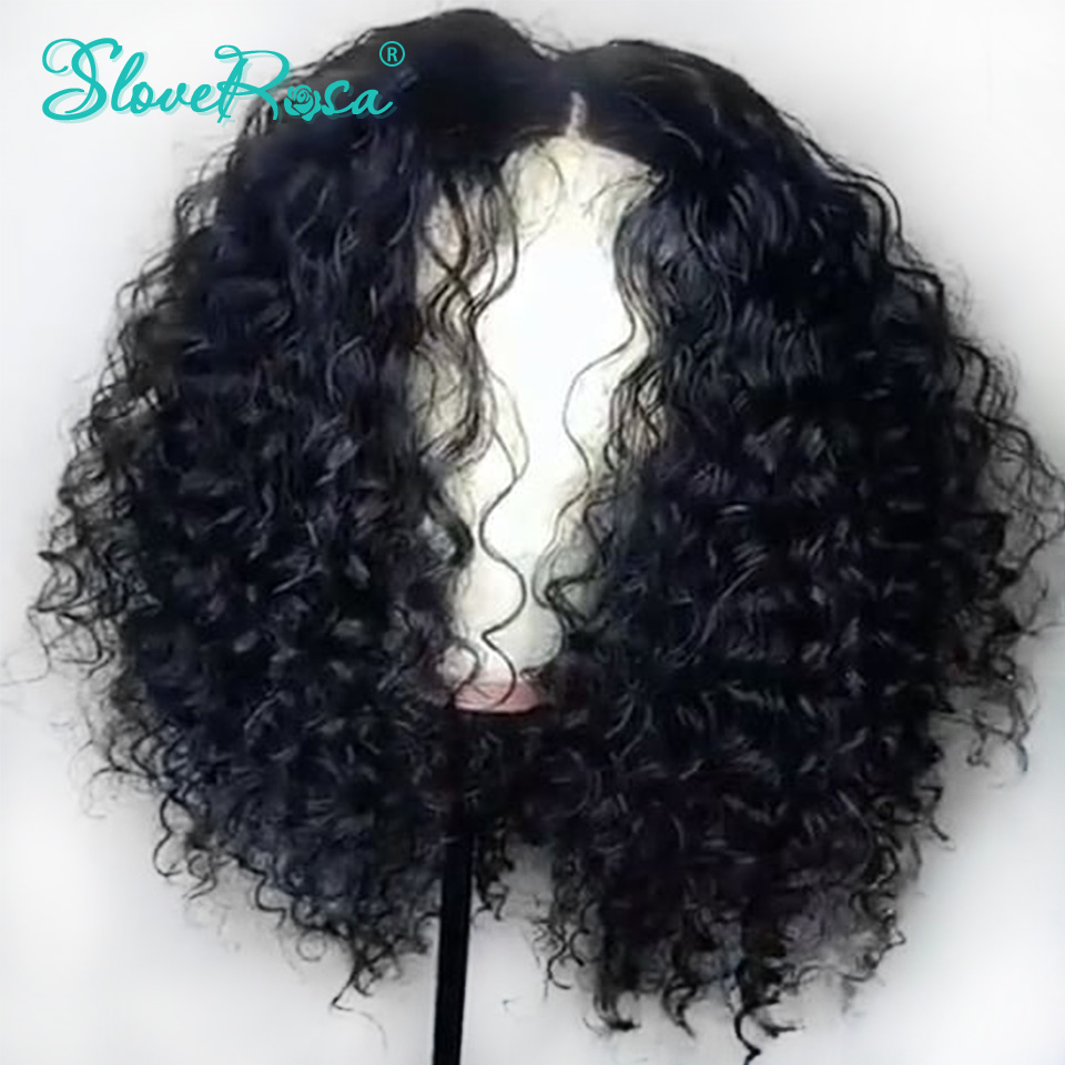 Full Lace Human Hair Wigs Deep Curly With Baby Hair Remy Indian For Woman Black Bleached
