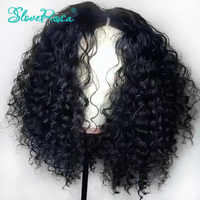 Full Lace Human Hair Wigs Deep Curly With Baby Hair Remy Indian For Woman Black Bleached Knots Full End Slove Rosa Hair