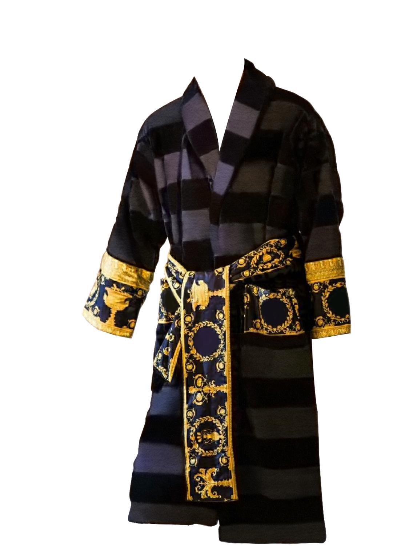 Versace style Men Casual Bathrobe