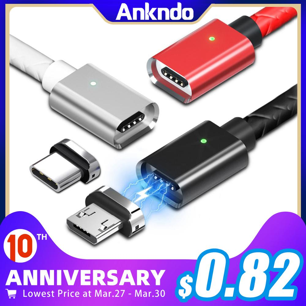 Micro USB Cable Magnetic Cable Type C 3A Fast Charge 1m 2m Android Mobile Quick Charging Magnet USB C Cord Phone Data Cord