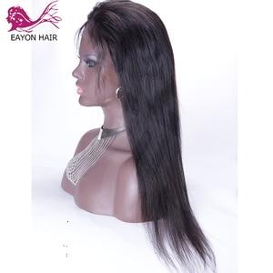 Image 4 - EAYON önceden koparıp tam sırma insan saçı peruk bebek saç ipeksi düz perulu Remy saç peruk ağartılmış knot 130 yoğunluk
