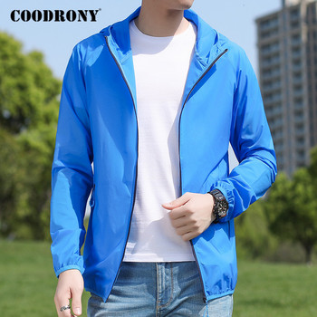 COODRONY Brand Bomber Jacket Men Spring Summer Light And Thin Sun-protective Clothing Casual Mens Coat Hooded Windbreaker P8001 baby jacket spring summer girls sun protective clothing children outwear cardigan girl leisure thin clothes floral sweatshirt