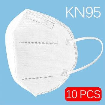 10pcs 5pcs high quality KN95 N95 respirator face mask reusable mouth masks anti virus anti flu filter antivirus with earmuff