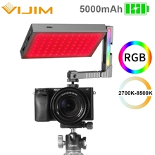 Ulanzi VIJIM R70 2700k-8500K Full Color RGB Led Video Light Bracket Extend Screw Cold Shoe Dimmable Photography Studio Light