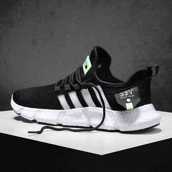 Men Shoes 2020 Adult Breathable Mesh Sneakers Men Casual Shoes Fashion Men Shoes Lace Up Men Sneakers Zapatillas Deportiva bossdun men