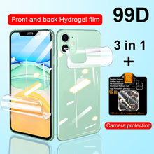 3in1 Full Cover Screen Protector For iPhone 11 Pro 7 8 SE 2020 Hydrogel Film For iPhone XS Max X XR 6 6S Plus Camera Lens Glass