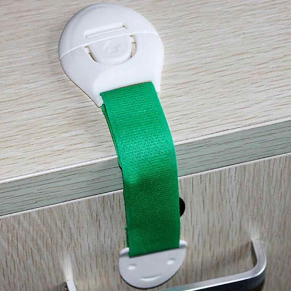 Drawer Door Cabinet Cupboard Toilet Safety Locks Baby Kids Safety Care Plastic Locks Straps Baby Infant Protection