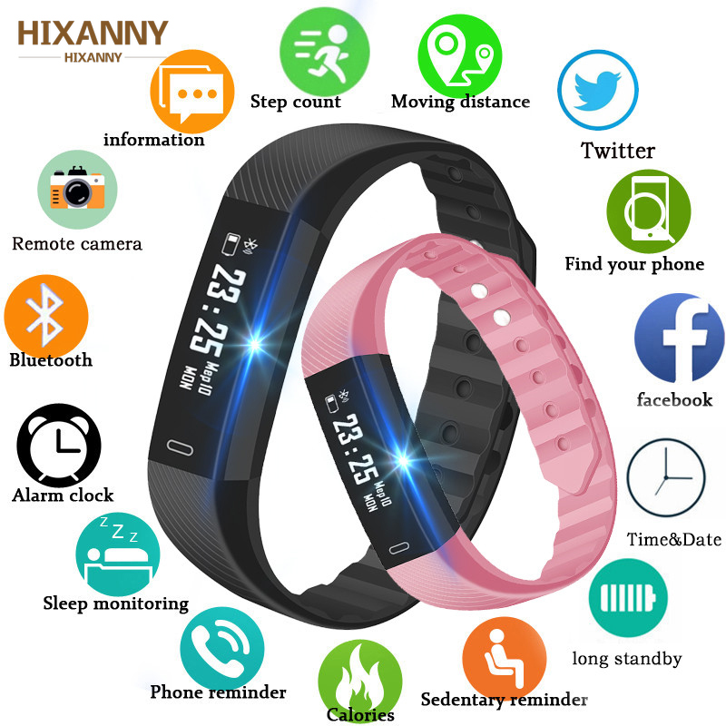 ID115 Pedometer Smart Watch Time Date Display Wrist Watch Step Counter Montre Bluetooth Connection Clock pk Fitbits PK M2 M3 S5