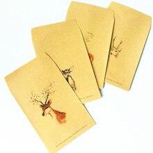 10pcs/lot Loveky Deer series kraft paper envelopes Cute gift envelope for wedding Invitation envelopes цена