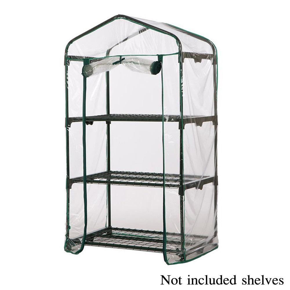 3/4/5-Tier Mini Kas Stalen Frame Outdoor Tuin Plant Grow Huis Greenhouse PVC Cover For Providing Enough And Comfortable Room