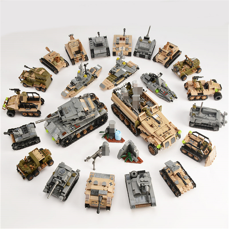 1061PCS Tank Building Blocks Toys Mini figures Vehicle Aircraft Boy Educational Block Military Compatible LegoINGlys Bricks (2)